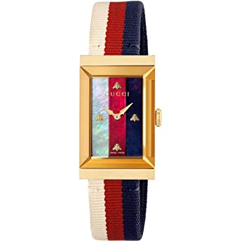 c797d8b5ad7 Image Unavailable. Image not available for. Color  Gucci G-Frame Leather Strap  Watch YA147405
