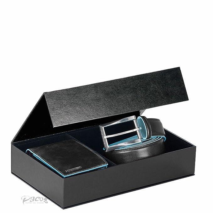 Box Regalo Portafoglio E Cintura Nero