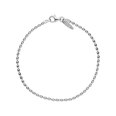 LINKS OF LONDON Sterling Silver Essentials Large Oval Ball Chain Bracelet 19cm/7.5 ukyDP