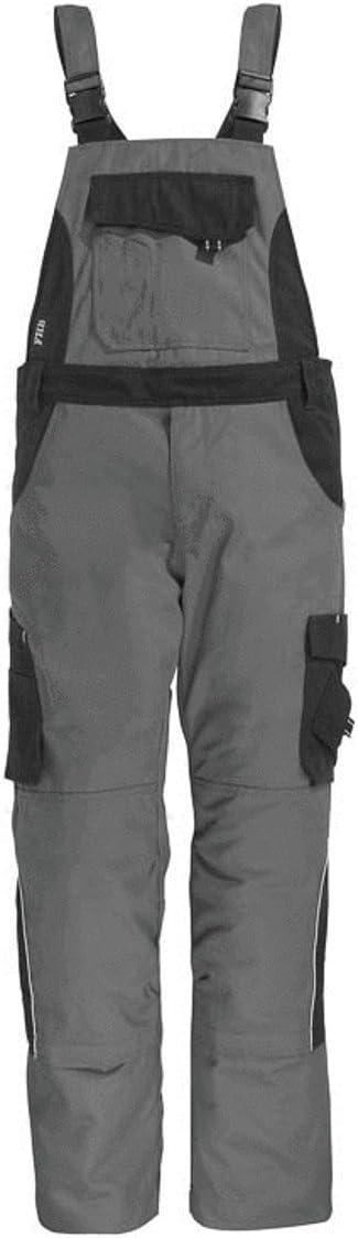 Gr/ö/ße 56 FHB Latzhose 130630-1120-56 grau // schwarz Eckhard
