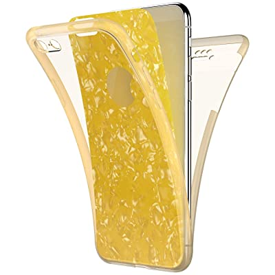 IKASEFU Compatible With iPhone 6 Plus/6S Plus Case Transparent Shell Texture Paper Ultra Thin Slim Clear 360 Full Body Protection Flexible Soft TPU silicone Shockproof Cover Case Yellow: Musical Instruments