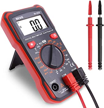 Digital Multimeter Durchgangsprüfer Multimeter Voltmeter Ac Dc Multi Tester Spannung Strom Widerstand 2 Jahre Garantie Von Beva Baumarkt