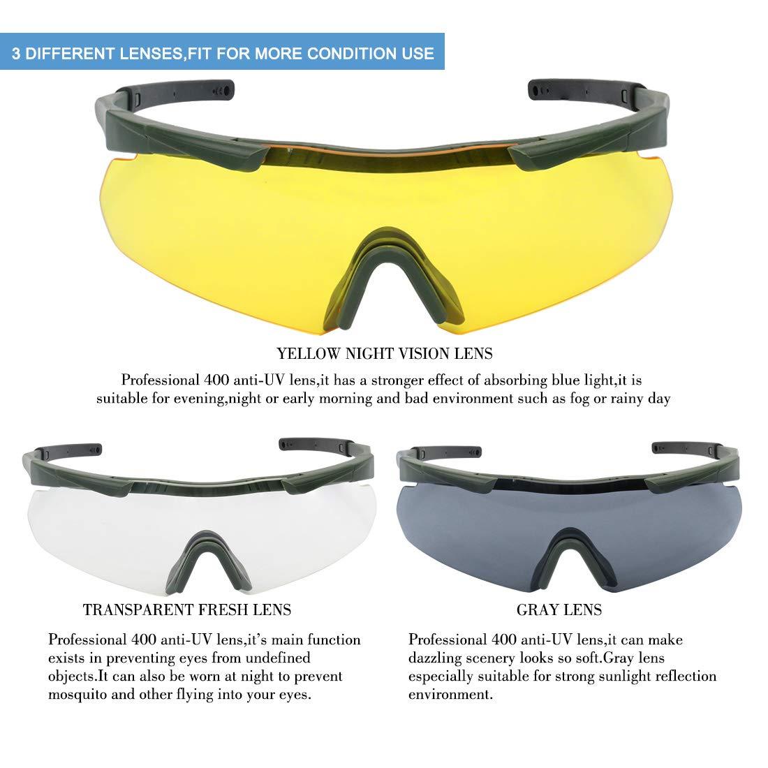 e8f6d6b6eb Amazon.com   XAegis Tactical Eyewear 3 Interchangeable Lenses ...