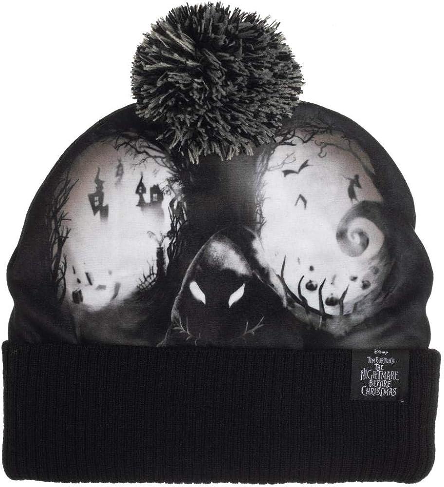 Nightmare Before Christmas Black Jack Skellington Black Bioworld Winter Hat