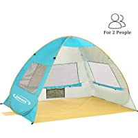ZOMAKE Pop Up Beach Tent for 2-3 Person Instant Portable Opening Beach Tent Sun Shelters with Anti UV 50+ UV Protection…