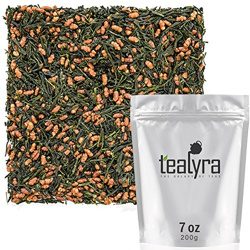 Tealyra - Imperial Gyokuro Genmaicha - Japanese Loose Leaf Tea - Gen Mai Cha Green Tea with Brown Roasted Rice - Organically Grown - Caffeine Level Low - 200g (7-ounce)