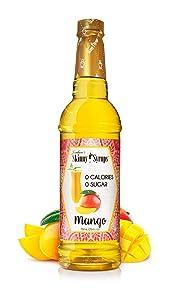 Jordan's Skinny Syrups | Sugar Free Mango Syrup | Healthy Flavors with 0 Calories, 0 Sugar, 0 Carbs, 25.4 Fl Oz (Pack of 1)