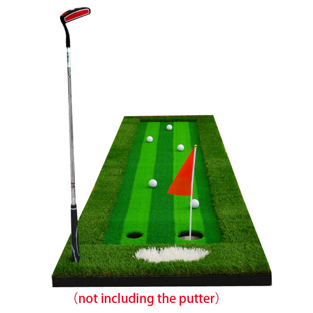 FUNGREEN 75X300CM Golf Putting Green System Professional Practice Indoor/outdoor Backyard Golf Training Mat Aid Equipment with 3 Colors Grass