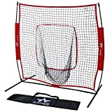 Sports God 7 x 7 Baseball Softball Practice Net with bow frame, Hitting & Pitching Training Aids