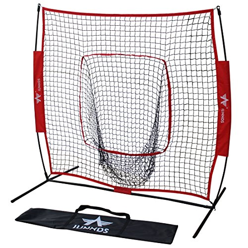 KLB Sport 5 x 5 Baseball Softball Practice Net with Bow Frame, Hitting & Pitching Training Aids
