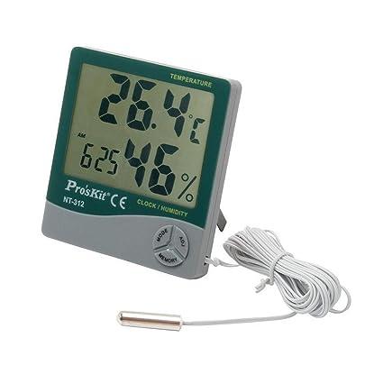 Termómetro digital y medidor de humedad ambiental + Sonda exteriores