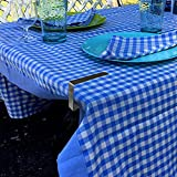 Lin-Tong Tablecloth Clips 6 Pieces for Picnic Tables, Flexible Table Cloth Stainless Steel Holders for Picnic Outdoor Banquet