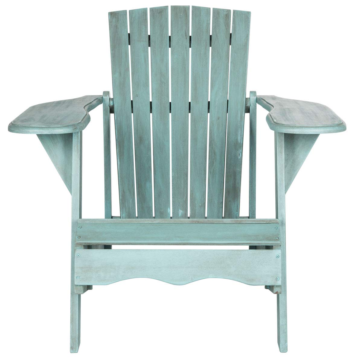 Safavieh Outdoor Collection Mopani Adirondack Chair, Beach House Blue