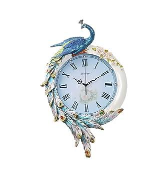 Amazon.de: FLMGZ Wanduhr, Pfau Persönlichkeit Kreative Uhr ...