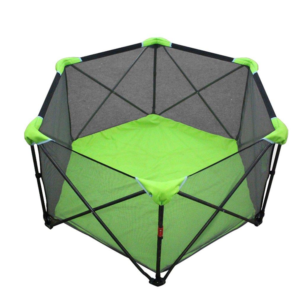 子供の遊び場ベビー幼児の屋内フェンスホームポータブル折り畳み式プレイヤード (Color : Green, Size : 135 * 70cm) 135*70cm Green B07FP3M1DN