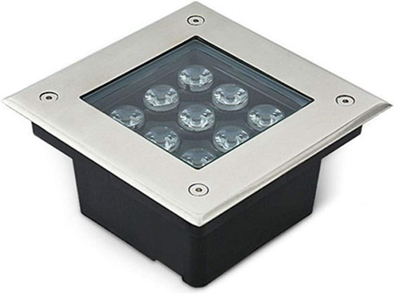 AMDHZ Foco Empotrable de Suelo LED Enterrada Luces Led Plaza IP67 AC220V Alto Lumen del rectángulo Ingeniería Embedded Focos Parque Jardín (Color : B, Size : 16W)
