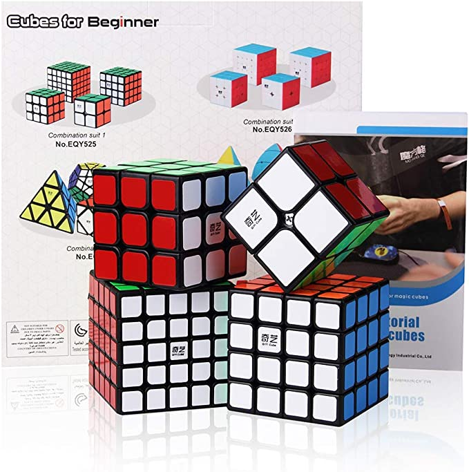 ROXENDA Speed Cube Bundle, Magic Cube Juego de 2x2x2 3x3x3 4x4x4 5x5x5 Speed Puzzle Cube con Caja de Regalo, Tutorial Secreto para Speed Cubes (T1): Amazon.es: Juguetes y juegos