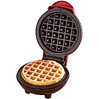 Mini Waffle Maker Classic Nonstick Breakfast Panini Making Machine Individual Round Portable Kitchen Cooking Appliances