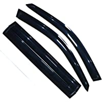 OCPTY 4Pcs Tape on Window Visor fits for 2006 2007 2008 2009 2010 2011 Honda Civic 4 Dr LX DX Sedan Side Window Deflector Rain Shade Visors