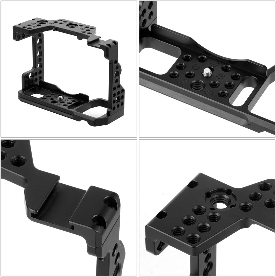 XT-XINTE SLR Camera Cage Protecting Case Mount Camera Photo Studio Kit with Cold Shoe Mount 1//4-20 3//8-16 Threaded Holes for DIY Options