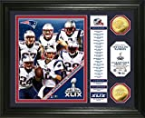 "NFL New England Patriots Super Bowl XLIX Champions ""Banner"" Photo Minted Coin, 18"" x 14"" x 3"", Gold"