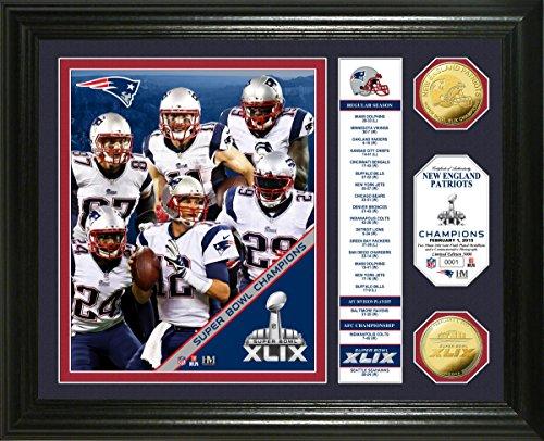 Gold Coin Plaque (NFL New England Patriots Super Bowl XLIX Champions