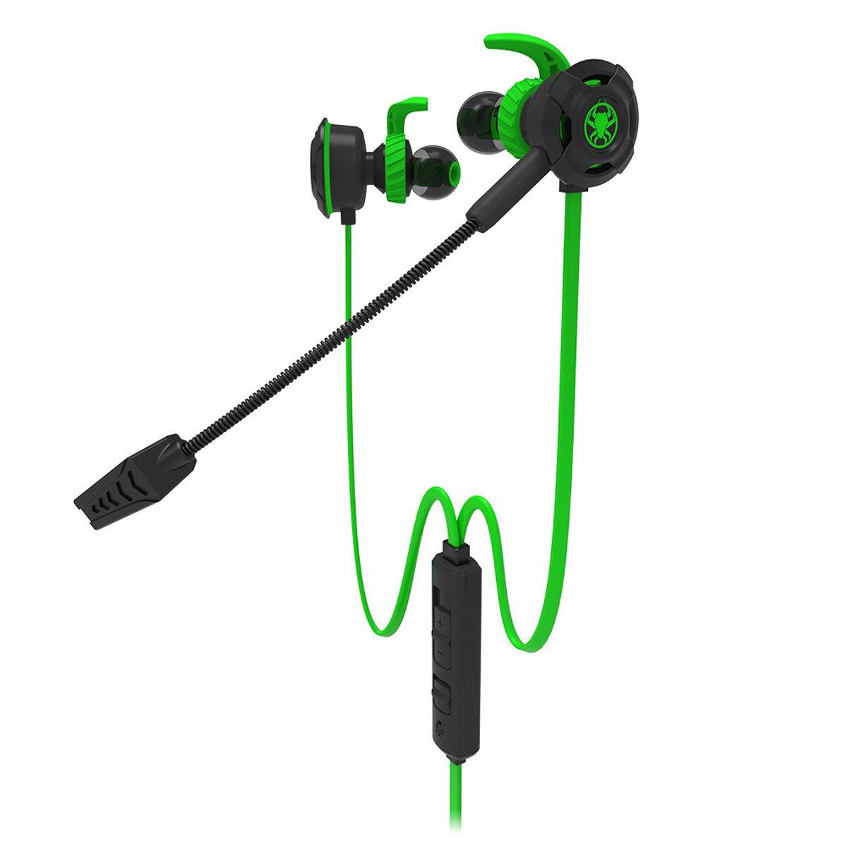 Plextone G30 stereo Gaming cuffie auricolari con microfono cuffie Gaming PS4 portatile in Ear auricolari con microfono In-line volume rimovibile per il telefono PC New Xbox One Playstation 4, verde