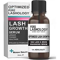 OPTIMIZED Eyelash Stem Cell Growth Serum & Eyebrow Enhancer with Pure Biotin, Castor Oil,