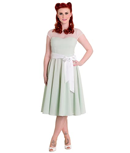 Hell Bunny 50s Maisy Gingham Prom Dress Mint - UK 20-22 (3XL): Amazon.co.uk: Clothing