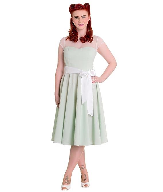 Hell Bunny 50s Maisy Gingham Prom Dress Mint - UK 20-22 (3XL): Amazon.co.uk: Clothing
