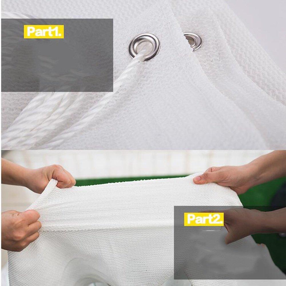 Camping Outdoor Zelte Weiße 80% Schatten Tuch Weiß 6-Pin-Verschlüsselung Verdickung Verdickung Verdickung Garten HDPE Sonnenschutznetz  (größe   6×8M) B07KHHM81Q Zelte Schönes Design fd407e