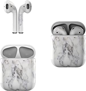product image for Skin Decals for Apple AirPods - White Marble - Sticker Wrap Fits 1st and 2nd Generation