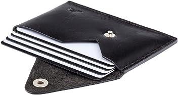 A-SLIM Tsuki Leather Business Card Holder or Minimalist Wallet - XSW33 (Sapphire Black)