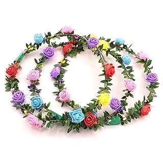 FeiyanfyQ LED Colorati Fiore Ghirlanda Fascia per Festa di Natale concerti per Headwear
