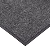 """NoTrax T37 Fiber Atlantic Olefin Entrance Carpet Mat, for Wet and Dry Areas, 4' Width x 6' Length x 3/8"""" Thickness, Gun Metal"""
