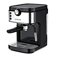Espresso Machine 19 Bar Cappuccino Machine & Latte Maker with High Pressure Pump & Powerful Steamer for Home Barista Cafe,Single/Double Cup Control,1300W