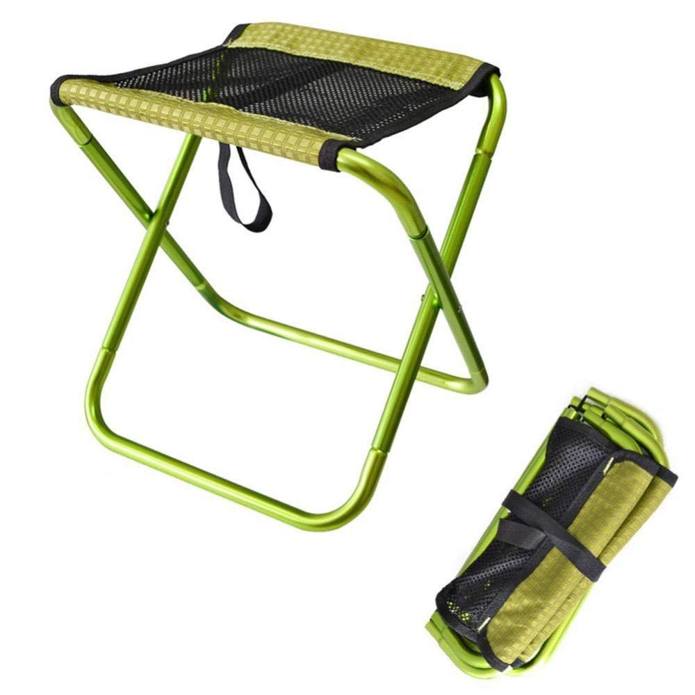 Silla de Pesca Plegable Ultraligera Verde port/átil Oxford Simmia para Camping de aleaci/ón de Aluminio