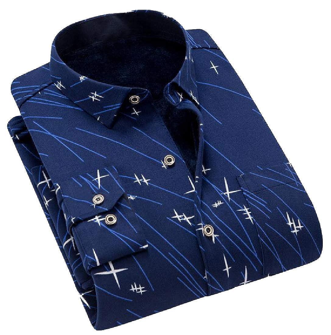 YUNY Mens Regular Fit Winter Warm Long Sleeves Outdoor Shirt 8 2XL