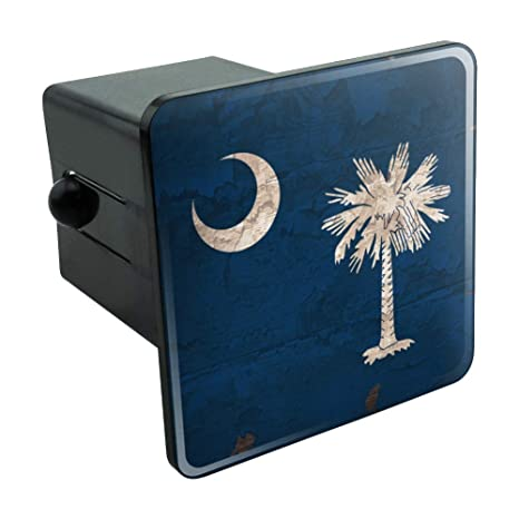 Graphics and More Rustic South Carolina State Flag Distressed USA Tow Trailer Hitch Cover Plug Insert 2