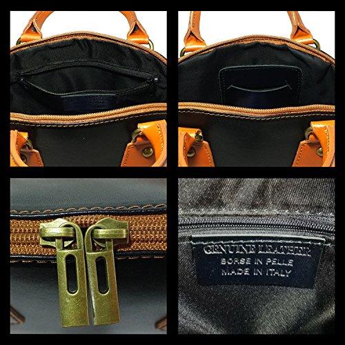 1 femme Vrai Glamexx24 Made in Pochette Cuir mariage à soirée 1 001 pour 1 Italy bandoulière Noir Sac 001 Sac qqfUrzE