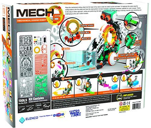 61MqWDi6D2L - Elenco Teach Tech Mech-5   Programmable Mechanical Robot Coding Kit   STEM Educational Toys for Kids 10+