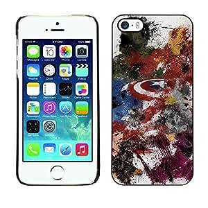 GIFT CHOICE / SmartPhone Carcasa Teléfono móvil Funda de protección Duro Caso Case para iPhone 5 / 5S /AVENGE SUPERHERO PAINTING/