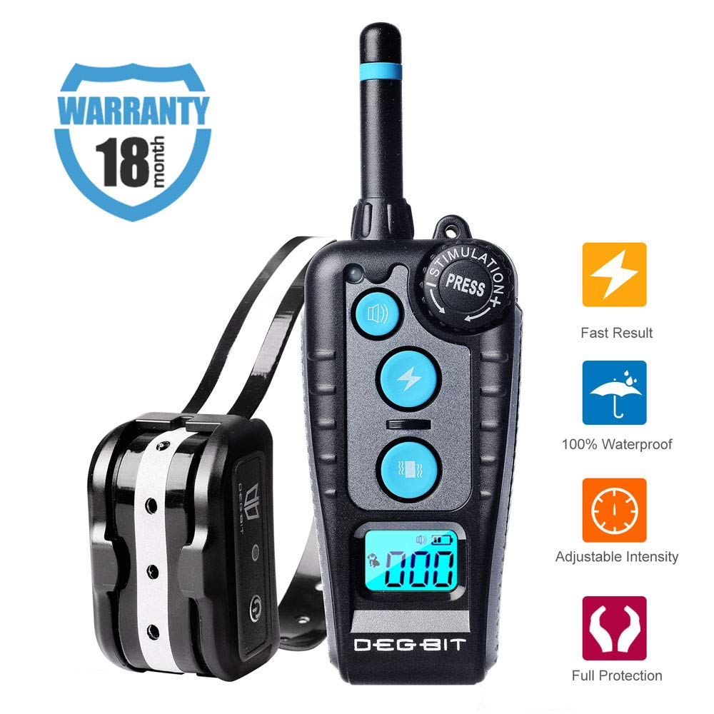DB Degbit Shock Collar for Dogs with 3 Modes, Dog Training Collar [IP67 Waterproof][Fast Training Result] E-Collar, Dog Shock Collar with Remote, 1000ft Range, Bark Collar, for Small/Medium/Large dogs