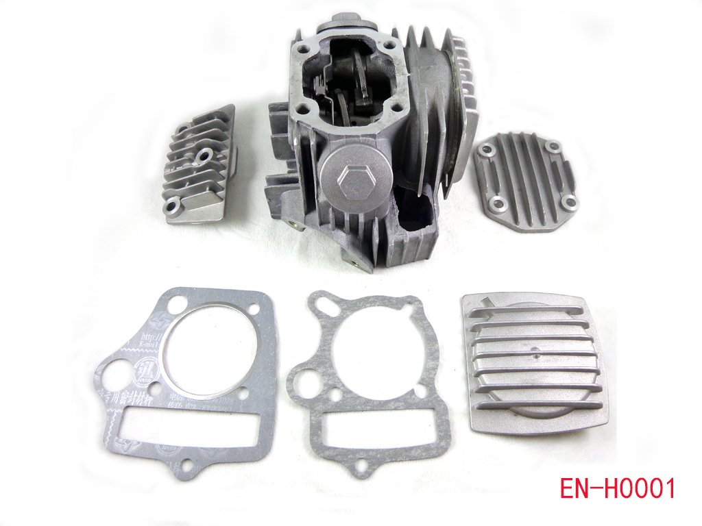 Complete Engine Cylinder Head Assembly w/ Valves and Gaskets for 90cc 110cc 125cc 4 stroke ATV Quad 4 wheeler Taotao SUNL JCL Kids ATV Parts