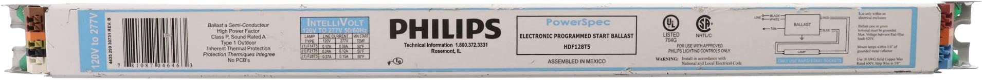 Philips ICN1S80T35M Electronic T5 Fluorescent Ballast 1-lamp 120-277V