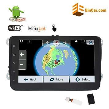 Última Android 7.1 estéreo de Doble DIN Coche GPS navegación Quad ...
