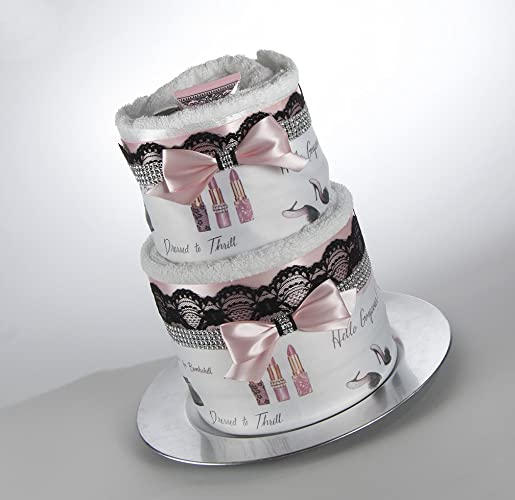the glamourous towel cake bridal shower gift