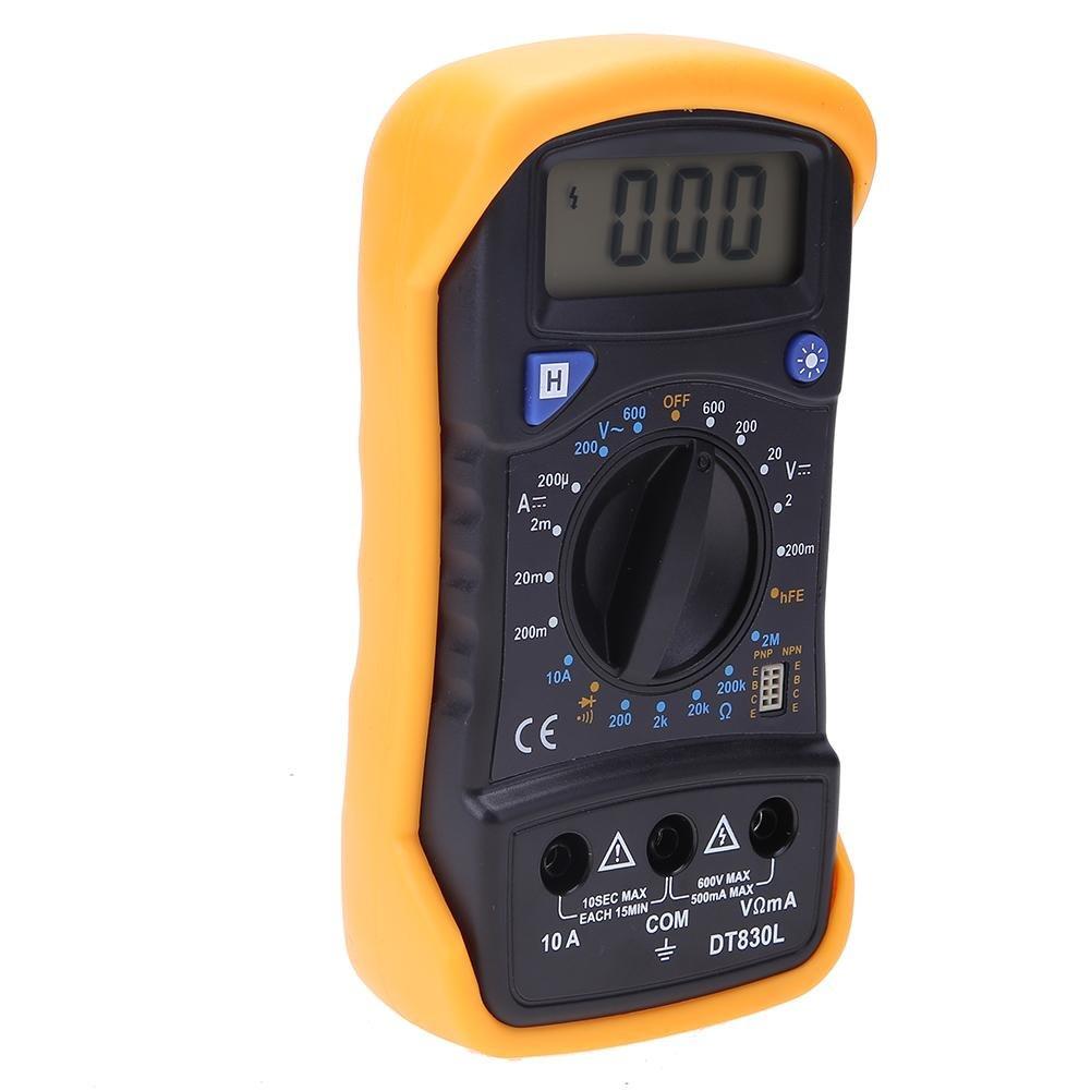 Amazon.com: Digital Multimeter DT830 Handheld Digital Backlight LCD  Multimeter AC/DC Voltmeter Current Resistance Diode Tester Meter: Home &  Kitchen
