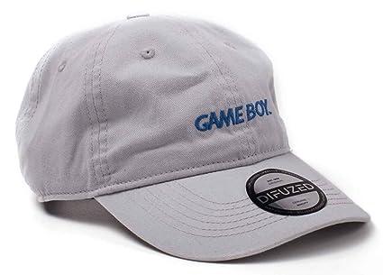ee014ff0e47 Amazon.com  Gameboy Baseball Cap Dad Cap Classic Logo Official Grey  Strapback  Clothing