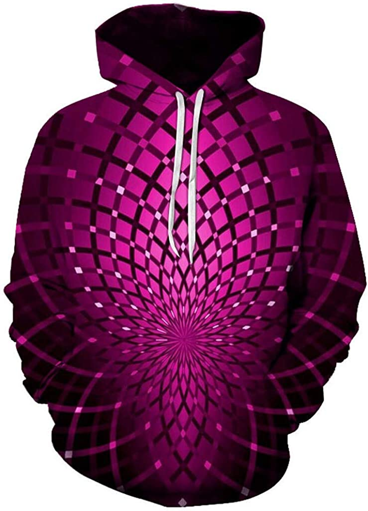 NREALY Su/éter Mens Winter 3D Printed Long Sleeve Casual Fashion Sweatshirt Blouse Tops Hoodies